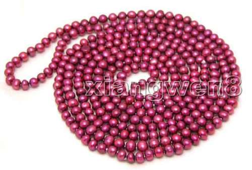 FREE SHIPPING HOT sell new Style >>>>>SALE Super Long 80 Red 6-7mm Round natural Freshwater Pearl NecklaceFREE SHIPPING HOT sell new Style >>>>>SALE Super Long 80 Red 6-7mm Round natural Freshwater Pearl Necklace