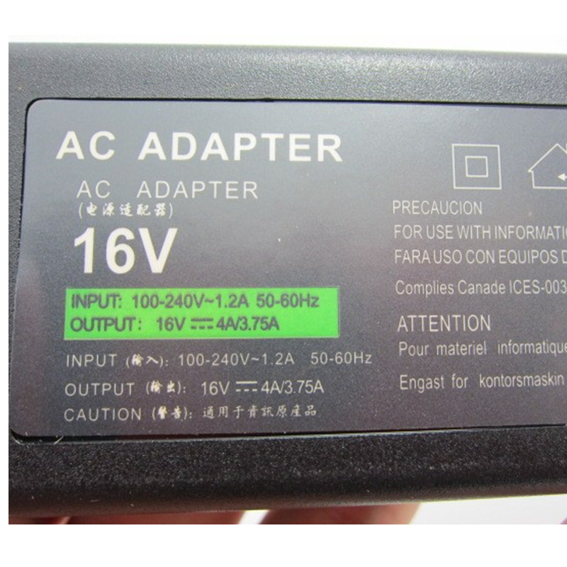 HSW Laptop Notebook AC POWER ADAPTER Charger For SONY 16V 4A 64W 6 5 4 4mm Pin A764 dcOlWM in Laptop Adapter from Computer Office