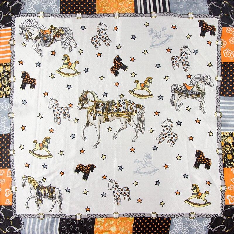 ᐊ100% seda bufanda mujer bufanda caballo pañuelo bufanda seda ...