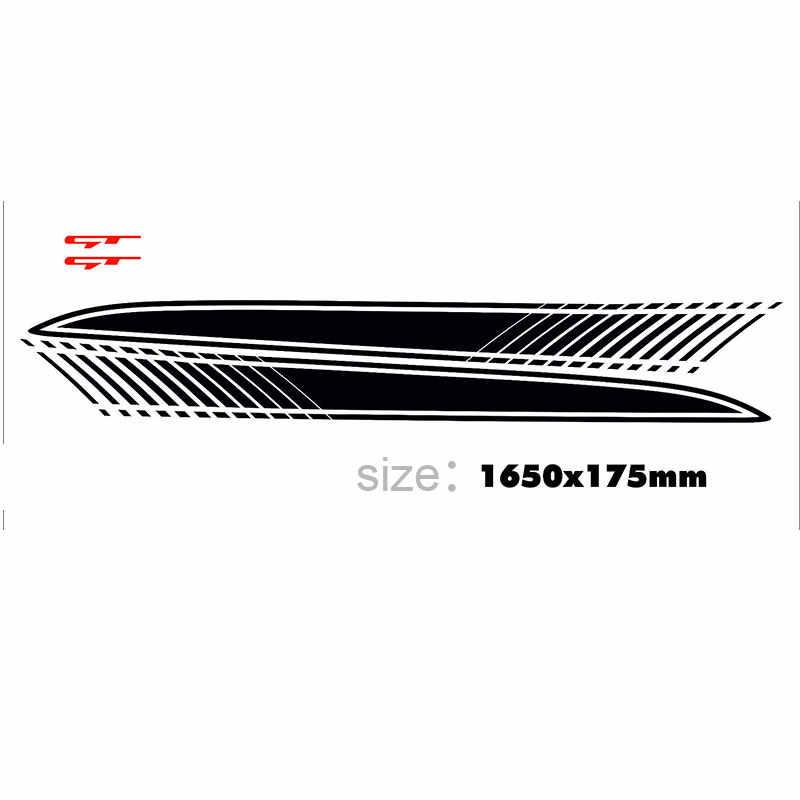 Для Kia Pro Ceed виниловые боковые пары полосы-наклейки GT линии графика da4-0002