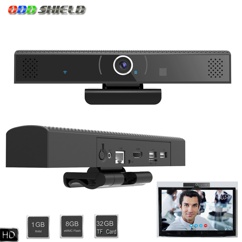 HD3S TV Box Android 6.0 Camera Quad-core 1GB 8GB add 32GB TF Card TV Box HDMI Smart TV Box Built in DSP Mic Speaker PK HD23 w8 pro 32gb mini pc & tv box quad core atom z8350 windows10 os support tf card hdmi tv box