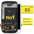 DHL 10pcs Copy AAA  New Lcd Display Digitizer Touch Screen Glass Frame For Samsung S3 I9300 I747 I535 Freeshipping Limited