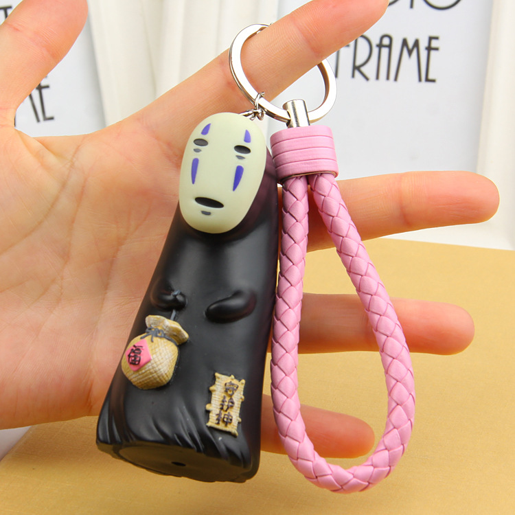 2017 baby toys Miyazaki Hayao Chihiro Blessed Bag Guardian No Face Male Doll Handless Car Key Chain action & toy figures doll