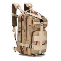25L Outdoor Climbing Multifunctional 3P Molle Backpack Bag Military Army Tactical Pack 600D Waterproof Oxford Hiking