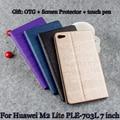 Кожаный Чехол Стенд Новый PU защитный Кожаный Чехол Для Huawei Mediapad T2 7.0 Pro M2 Lite PLE-703L 7 ''ПК Защитной Оболочки + Подарок