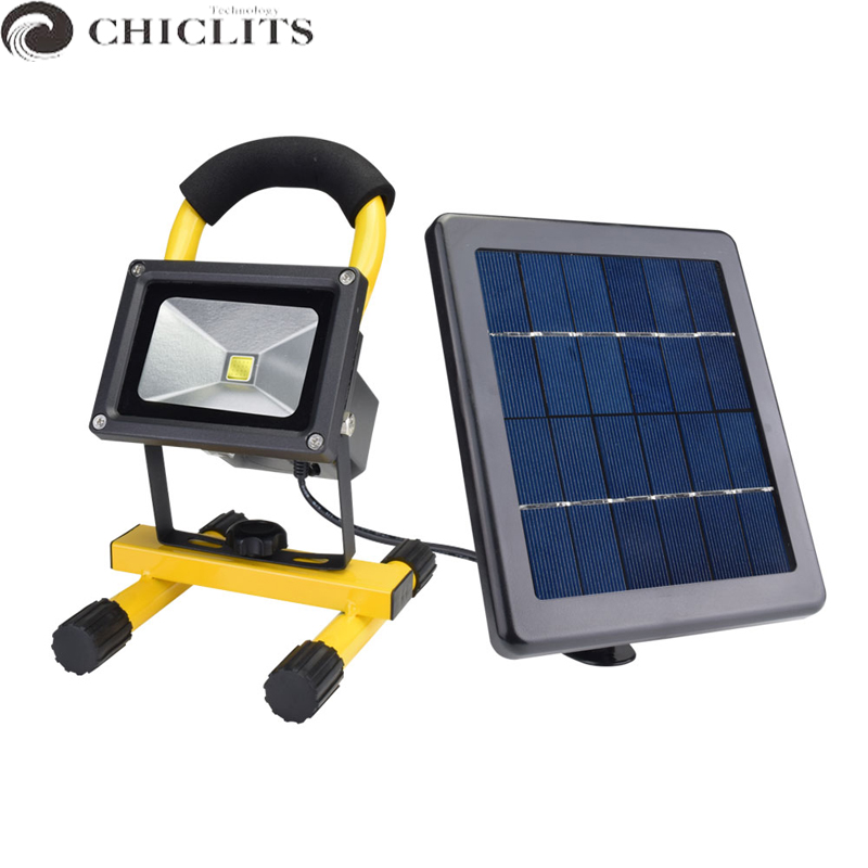 Solar LED flood Light Spotlight Outdoor 10W IP65 Waterproof Portable Solar Powered Refletor Led Rechargeable Camping Flood lamps new multifunction rechargeable led camping light lanterns solar powered fan outdoor portable lanterns solar tent light lam lamp