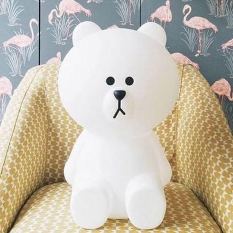 Nova Luz CONDUZIDA Da Noite Coelho Cabeça do Urso de Brown DA UE/EUA Plug Animal Dos Desenhos Animados Da Lâmpada Decorativa Para Crianças Quarto Crianças presentes - 2