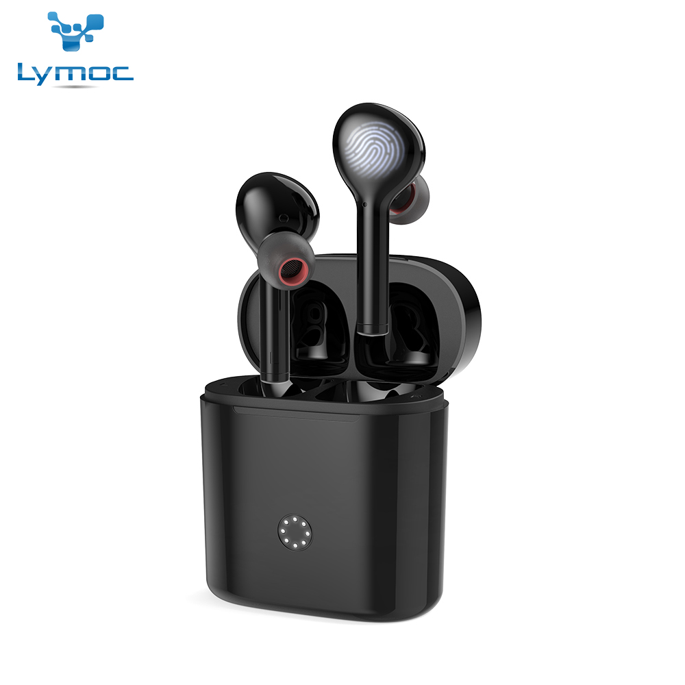 LYMOC Wireless Earbuds Bluetooth 5 0 Headsets Hi Fi Stereo Noise Cancelling Auto Paired Touch Key