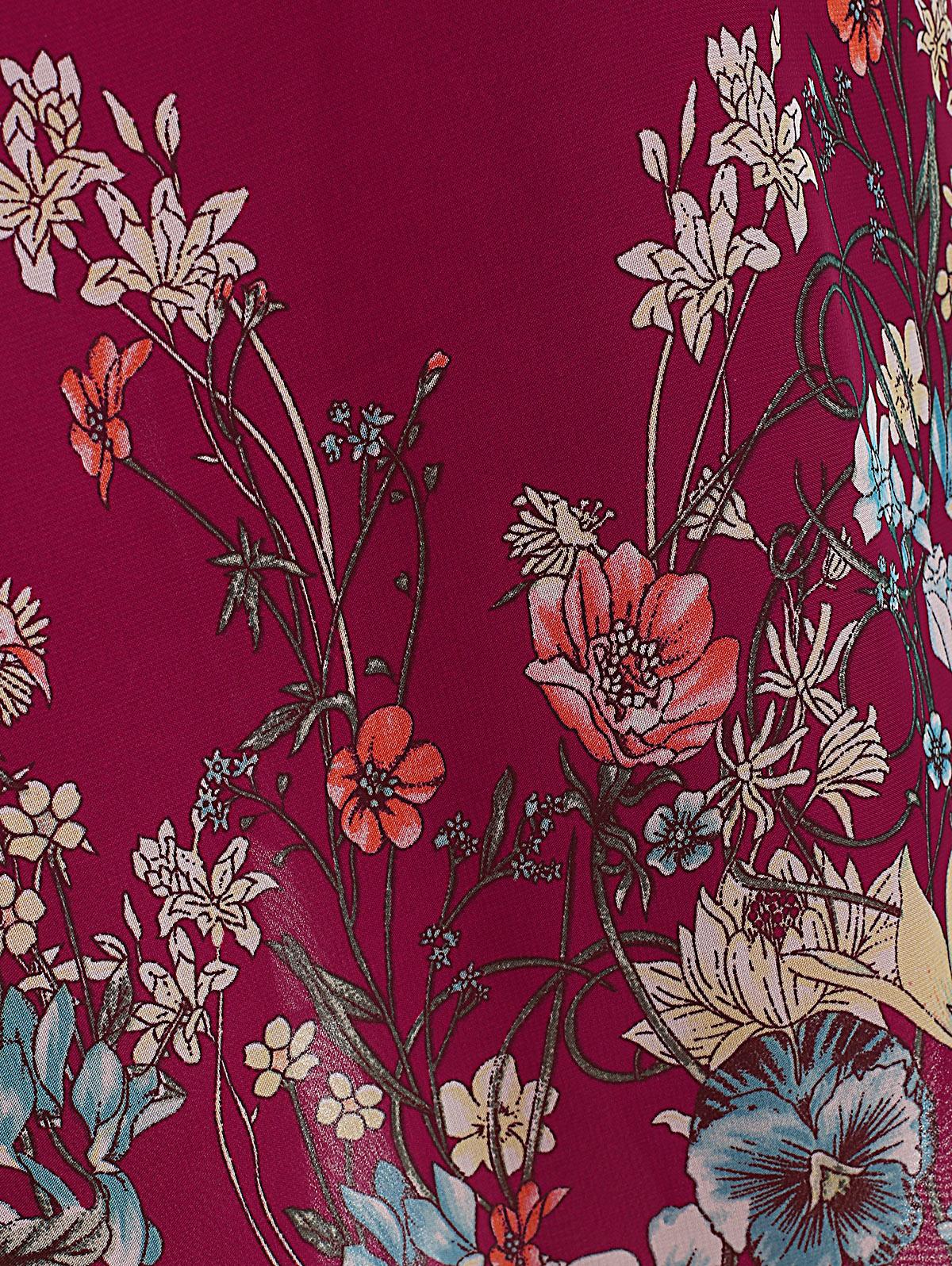 Robe grande taille à manches longues en mousseline de soie details 2