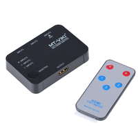 MT VIKI 3x1 4K HDMI Switch Selector 3 input 1 output Switcher support 3D IR Remote Controller Selector MT SW301SR