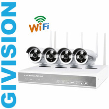 4CH Wireless NVR IP Camera CCTV System 4PCS Outdoor 720P IR night vision P2P WIFI IP Home Security Camera Surveillance Kit