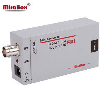 MiraBox HDMI to SDI Converter Portable Mini Size SD-SDI/HD-SDI/3G-SDI Adapter to BNC FUll HD 1080P for Camera Home Theater