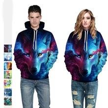 2019 New Hot Sale Ice Fire Wolf Printed Hoodies Men 3d Sweatshirts Women Hoodie Couple Wear Baseball Sportswear