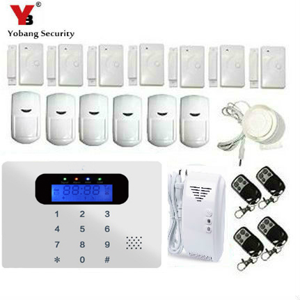 YobangSecurity Russian/Spanish/French /Italian/Czech/Portuguese Touch Keypad  GSM Wire Home Burglar Security Alarm System Kit