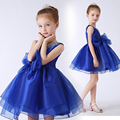 royal blue tutu princess dress 2016 new flower girl dresses beading sleeveless ball gown girls pageant dress for perform wedding