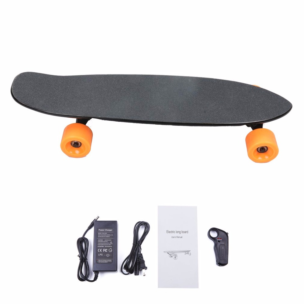 Outdoor 2.4G Frequency Wireless Remote Control Small Fish Board Electric Skateboard Motorized Hub Adult Scooter One Motor NEW alouette remote control electric skateboard scooter maple wood electric board longboard hub motor dual drive lg battery