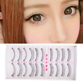 Women Natural Long Black 10Pairs Makeup Fake False Eyelashes Eye Lashes Extension Handmade Party Daily