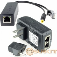 Power Over Ethernet Kit PoE 48V Injector 12V Active Splitter For IP Camera AP