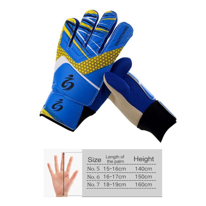 Kids Football Soccer Gloves Leg With Protector Goalkeeper Breathable Anti-Slip Guard Training