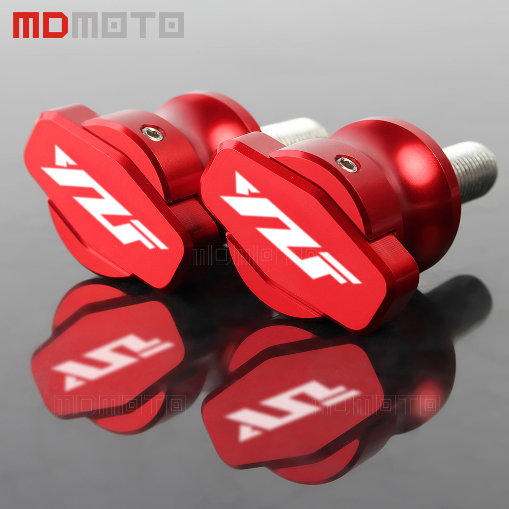 M6 logo accessories parts For Yamaha YZF R1 R1M R1S R3 R6 R15 R25 motorcycle swingarm spools Screw slider 6mm Swing arm Stands 6mm swing arm spools sliders for yamaha r7 yzf r1 r6 r6s fz1 fz6 fz6r 8 colors
