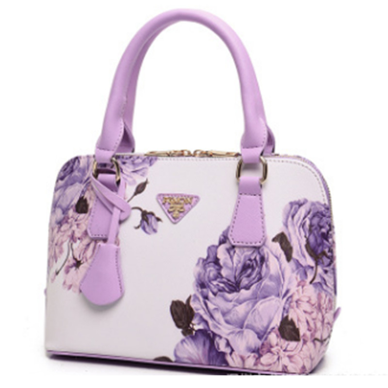Fashion Print Bag Women Handbag High Quality Totes Bags PU Leather Floral Handba