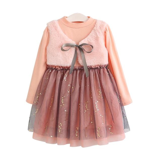 KAVKAS 2019 autumn Cotton Long Sleeve Dresses for Girls