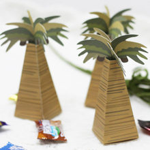 25pcs Mini Coconut Tree Design Wedding Candy Boxes Hawaiian Style Paper Gift Boxes for Wedding Party club Candy Boxes gift(China)