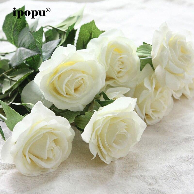 8 stücke/11 stücke Real Touch Silk Künstliche Blumen Hochzeit Braut Bouquet Gefälschte Blumen Floral Hochzeit Dekorative Blumen