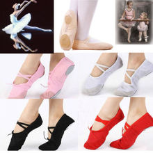 According The CM To Buy Canvas Ballet Dance Shoes For Girls Ballet Dance Dancing Shoes Pointe For Children Kids Girls Women cheap NoEnName_Null Cow Muscle Elastic band Bowtie Soft Ballet Shoes Flat (0 to 1 2 ) Square heel Rubber Medium(B M) Fits true to size take your normal size