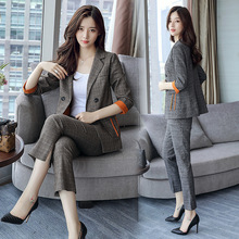 Fashion 2018 New Business Pant Suits Set Blazers Formal Wome