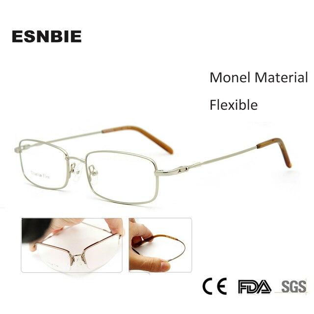 ESNBIE Monel Men Glasses Frame Titanium Flex Memory Prescription Glasses  armacao para oculos de grau Eyewear Frame Nerd db627ccb54
