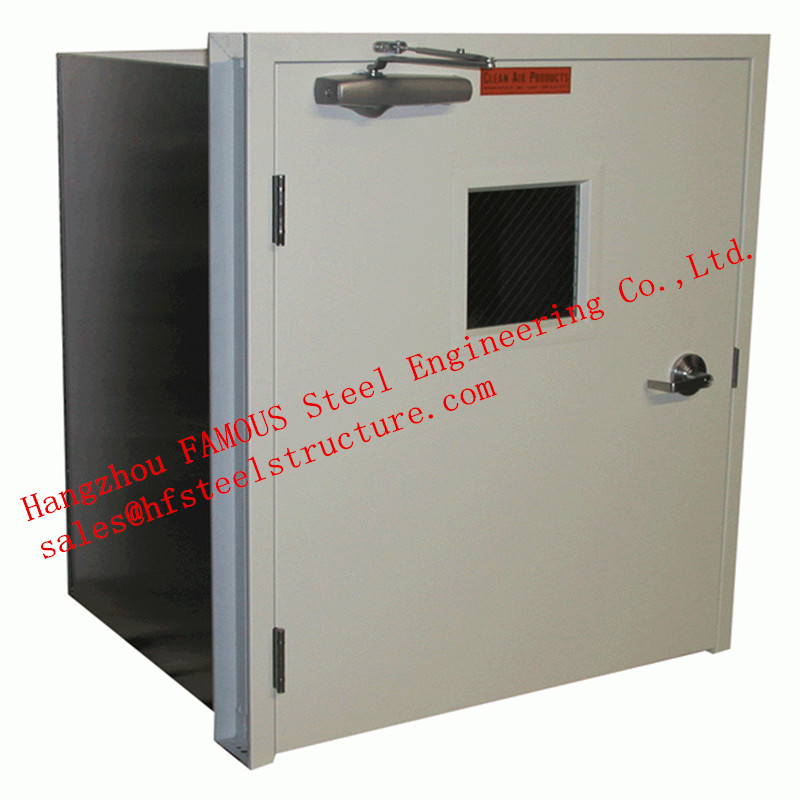 Surface Painted Standard Size Industrial Fire Rated Doors 3 Hours Fire Resistant