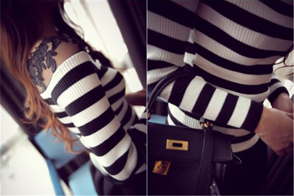 HTB1X8jMJXXXXXXhXFXXq6xXFXXXt - Blusa black white striped blouse shirts long sleeve