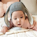 Envío rápido de la Alta Calidad Nuevo 2016 de Corea Niños Encantadores Del Bebé Del Sombrero Del Oído de Conejo Sombrero Hecho Punto Niño Tapas Otoño e invierno precios más bajos