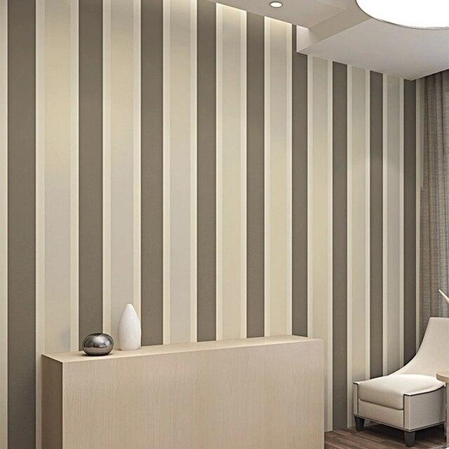 Modern Minimalis Garis Berkelompok Kertas Dinding Glitter Kain Bukan