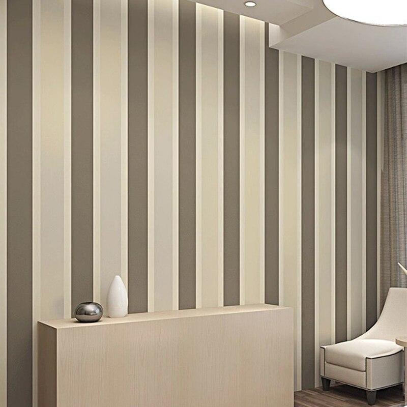 Super Moderne Minimalistischen Streifen Beflockung Wand Papier Glitter FC67