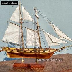 Деревянный корабль комплекты моделей развивающая Игрушечная модель лодки деревянные 3d лазерная резка модель якоря моря чайки-сборка сдел...