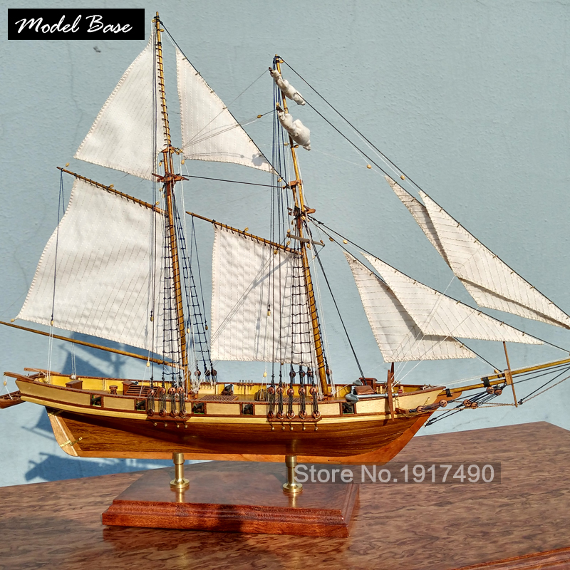 Wooden Ship Models Kits Educational Toy Model Boats Wooden 3d Laser Cut Model-Ship-Assembly Diy Train Hobby Scale 1:96 Harvey