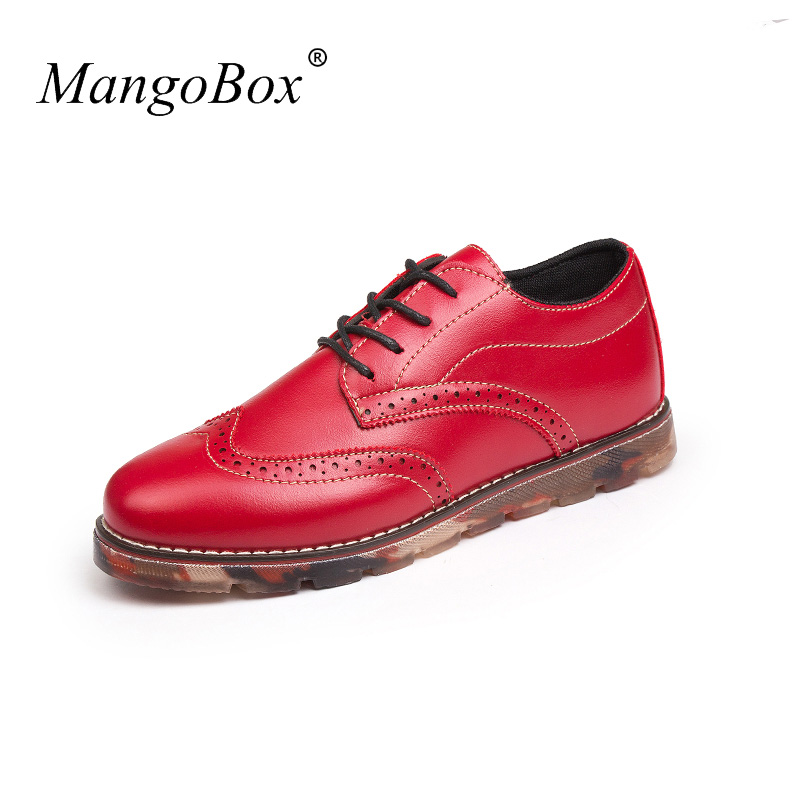 Fashion Brogue Footwear Popular Walking Shoe Casual Male Black/Red Office Shoes for Men Designer Luxury Brogue Mens Flats Shoes pjcmg fashion italian luxury mens shoes casual oxfords black red lace up designer genuine leather men flats office wedding shoes