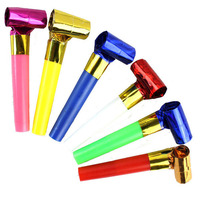 100pcs/lot New  small  noise maker blowout party jazzy whistle blow outs pinnata favour bag filler Children gift