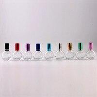 Taşınabilir 13 ml Ücretsiz Nakliye Cam parfüm Şişesi Alüminyum Folyo Pompa Sprey 9 Renk Sprey atomizer Makyaj Su Boş Şişe