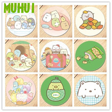 цена на Free Shipping Kawaii Anime cartoon Sumikkogurashi Brooch Pin Breastpin Badge Accessories For Clothes Backpack Decoration 19197