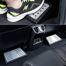 Car Suv Passenger Rear Back Seat Foot Rest Pedal Stool For Bmw Audi Benz Kia Toyota Honda Plate Pedals Footboard FootPlate