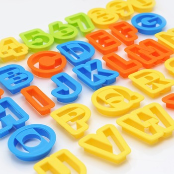 New Set NEW BIG Alphabet Number Letter Font Plastic Cookie Cutter Fondant Tool Baking Cake Mold Decorating Press Pastry DIY
