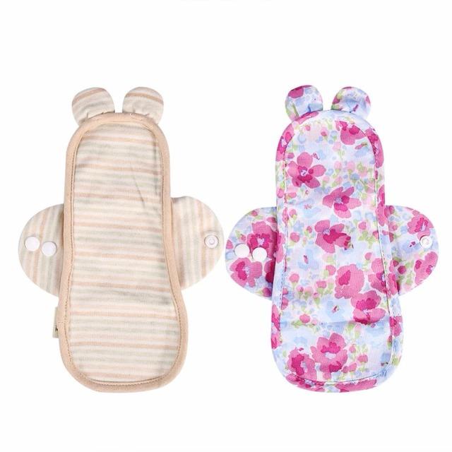 1Pcs New Organic Cotton Menstrual Pads 2 Style Feminine Soft Washable Reusable Menstrual Napkin Panty Liner Sanitary Cloth Pads