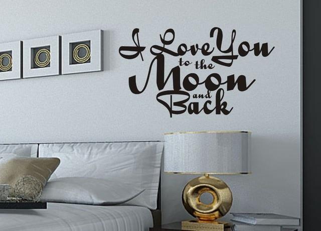 Slaapkamer Muur Quotes : I love u de maan & back stijl 2 muur kunst quote slaapkamer sticker