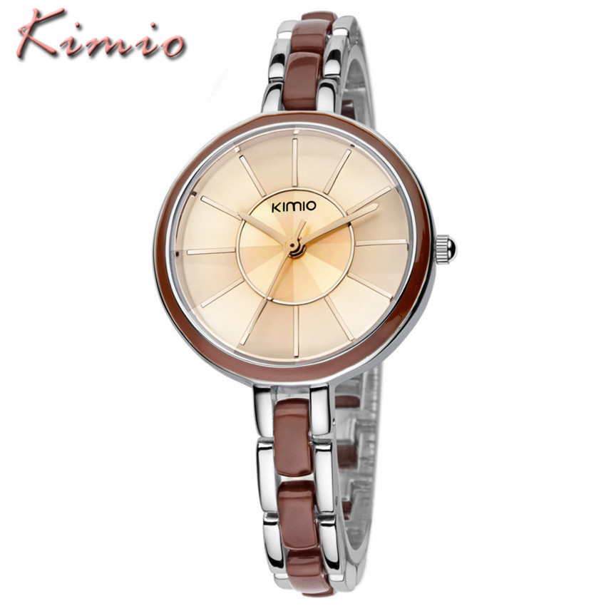 Relojes Mujer 2016 New Fashion Women Brand KIMIO Watches Casual Ladies Dress Steel Bracelet Analog Quartz Watch Relogio Feminino dgjud new fashion casual watches women quartz watch leather watch strap ladies hodinky relogio feminino relojes mujer 2016 clock