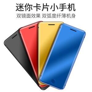 Image 2 - ULCOOL V66 + V66 artı Bluetooth çevirici 1.67 inç süper Mini Ultrathin kartlı telefon Metal gövde Mini cep telefonu
