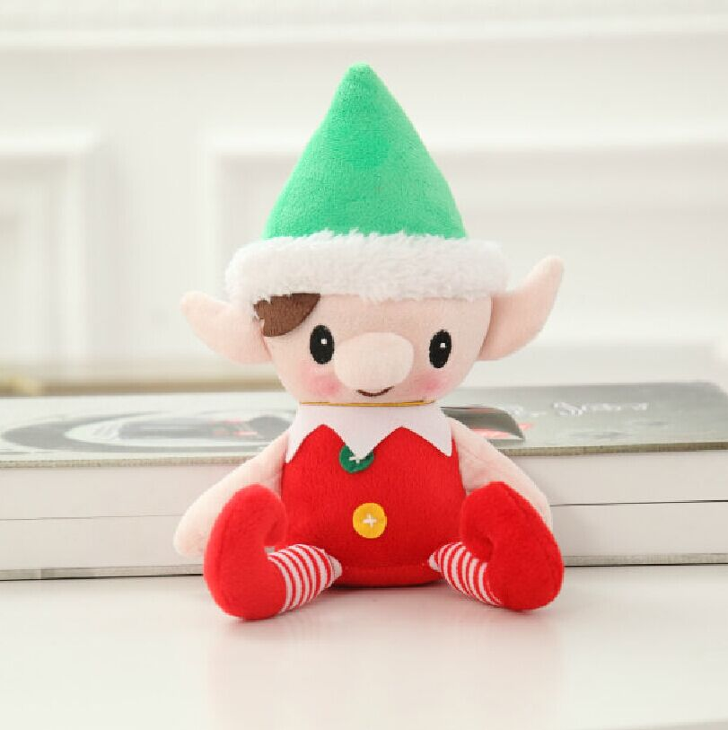 free shipping christmas genius plush doll christmas elf soft stuffed toy new arrived 30cm size 1pc in stuffed plush animals from toys hobbies on