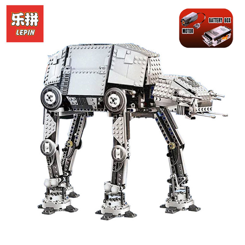 In Stock DHL Lepin Sets 05050 1137Pcs Star Wars Figures Motorized Walking AT-AT Model Building Kits Blocks Bricks Kid Toys 10178 05050 lepin star wars motorized walking at at model building blocks classic enlighten figure toys for children compatible legoe